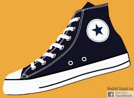 converse shoes logo vector. pop art - retro style hi top converse all star shoes logo vector
