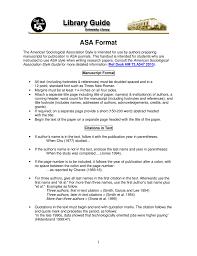 Asa Format A