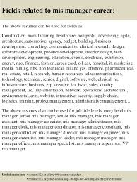 resume objectives for managers top 8 mis manager resume samples