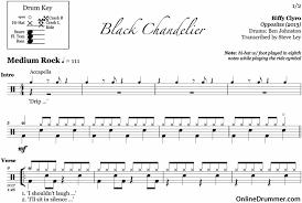 black chandelier biffy clyro drum sheet drummer com