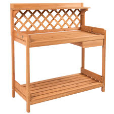 Potting Benches Potting Bench Outdoor Garden Work Bench Station Planting Solid