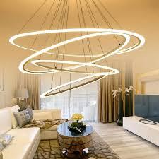 dining room lamp modern led suspension chandelier oval strip chandelier home lighting for kitchen dining room