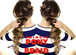 How Todo Hair Style 2minute fancy ponytailbraid amazingly easy hairstyle 4257 by wearticles.com