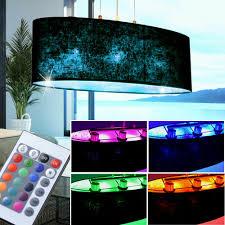 Decken Led Rgb Luxus Leuchte Dimmbar Light Big Schwarz Stoff