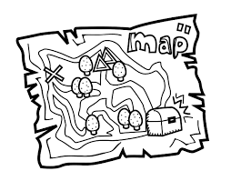 Small Picture Treasure map coloring page Coloringcrewcom