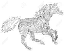 25 Het Beste Kleurplaten Voor Volwassenen Paarden Mandala