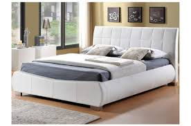white faux leather bed. Unique Leather Zoom Image To White Faux Leather Bed E
