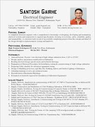 Electrical Engineer Resume Pdf Format Business Document