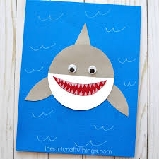 shark week simple paper shark craft i heart crafty things how to make a paper shark craft