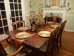 Country Table Decorations Classy Wooden Rustic Dining Table With 6 Dining Chairs Feat Silver
