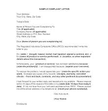 Letter Of Complain Template Regards 4 Customer Complaint Email Template Complaint Letter