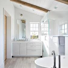 sloped ceiling cabinets. Beautiful Ceiling White Washstand With Gray Cabinet Doors And Drawers To Sloped Ceiling Cabinets
