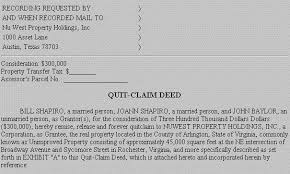 quick claim deed form texas example document for quit claim deed