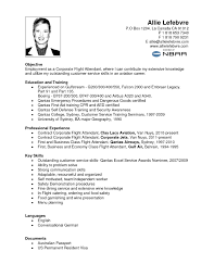 Flight Attendant Resume Sample Philippines Flight Resume Format For