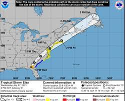 Tropical storm watch issued for most of ...