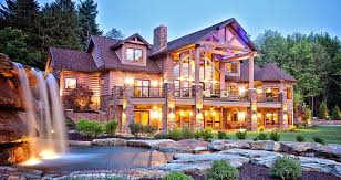 Prepossessing Luxury Log Cabin Plans And Home Small Room Exterior  Decorating Ideas