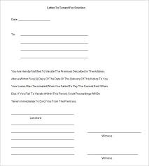 Sample Eviction Notice To A Tenant Download Them Or Print