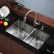 Relaxing undermount kitchen sink white ideas Farmhouse Sink Black Granite Countertop With Dish Drying Rack And Vigo Sinks Plus Graff Faucets For Your Kitchen Notaspongecom Decorating Cozy Vigo Sinks For Your Kitchen Design Ideas