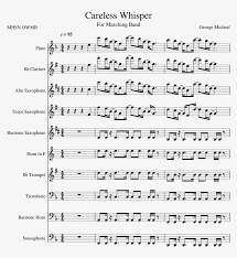 Sheet music for the song careless whisper for bb tenor saxophone. Careless Whisper Sheet Music For Flute Clarinet Alto Careless Whisper Transparent Png 850x1100 Free Download On Nicepng