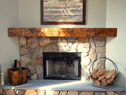 log mantels rustic fireplace invigorate wooden for fireplaces 19