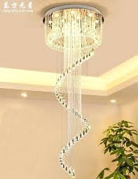 large round chandelier crystal chandelier led lamp stairway light large round hall hanging lighting modern style