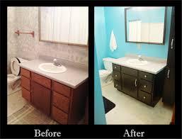 spongy to sleek bathroom update on a budget