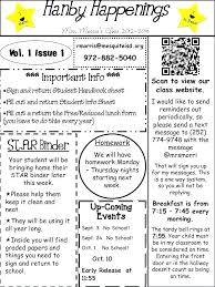 Grade Newsletter Template Weekly Templates For Elementary