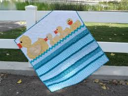 Quilt Patterns For Boys Beauteous Lucky Ducks Baby Boy Duck Quilt Pattern