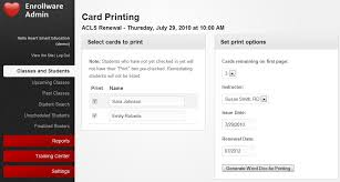 aha card template by american ociation card printing made easy
