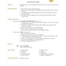 Resume Objective For Accounts Payable Simple Sample Resume Objective