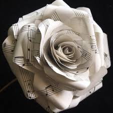 Paper Flower Bouquet Etsy Large Musical Note Paper Flower Paper Roses Flower Bouquet Music Sheets Songbook Sheets Wedding Paper Flowers Forever Fresh