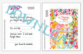Thank You Letter To Teachers Impressive FillIn Teacher Thank You Free Printable