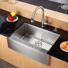 Kraus KHF20336 Professional Stainless Steel Apron Front Double Basin Sink Kitchen