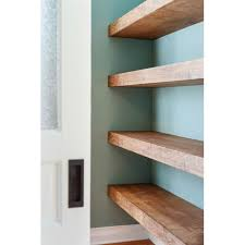 wood floating shelves 16 inches deep