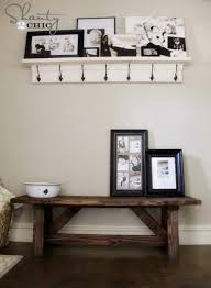 diy home decor projects rustic entry bench tutorial