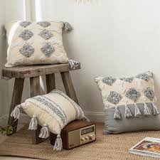 lism moroccan style cushion cover tuft