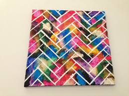 dress up your walls with unique herringbone wall art free tutorial with pictures on  on cut canvas wall art tutorial with wall art herringbone painting how to paint a painting art on