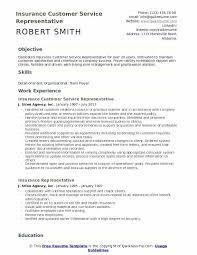 Insurance Resume Template Insurance Customer Service Representative