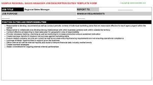 Regional Sales Manager Job Description Careers Job Descriptions