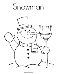 Small Picture Snowman Coloring Page Twisty Noodle