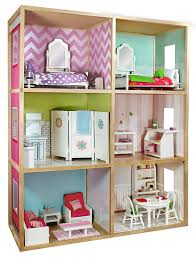 Amazon My Girl s Dollhouse for 18 Dolls Modern Home Style