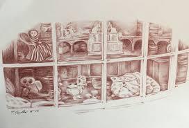 window pencil drawing. window pencil drawing o