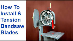 Timberwolf Bandsaw Blade Chart How To Change A Bandsaw Blade Tension Bandsaw Blades