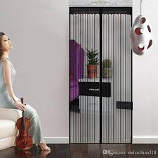 black color 90x210cm anti mosquito and insect magnetic screen door net with color stick bins magnetic screen door insect screen door mosquito screen door