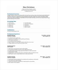 Volunteer Resume Template Volunteer Resume Template 7 Free Word Pdf  Document Download Templates