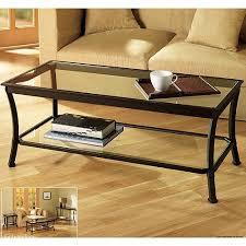 Mendocino Coffee Table, Metal U0026 Glass