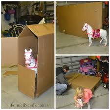 Decorating Cardboard Boxes DIY Cardboard Box Horse Stable 86