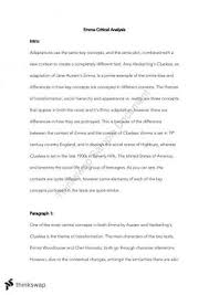 jane austen emma prelim essay year hsc english advanced  a comparative essay based on emma by jane austen and clueless by amy heckerling