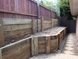 c c a h4 treated hardwood timber sleeper retaining walls