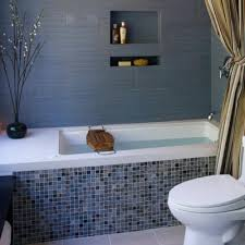 porcelain trend glass tile bathtub